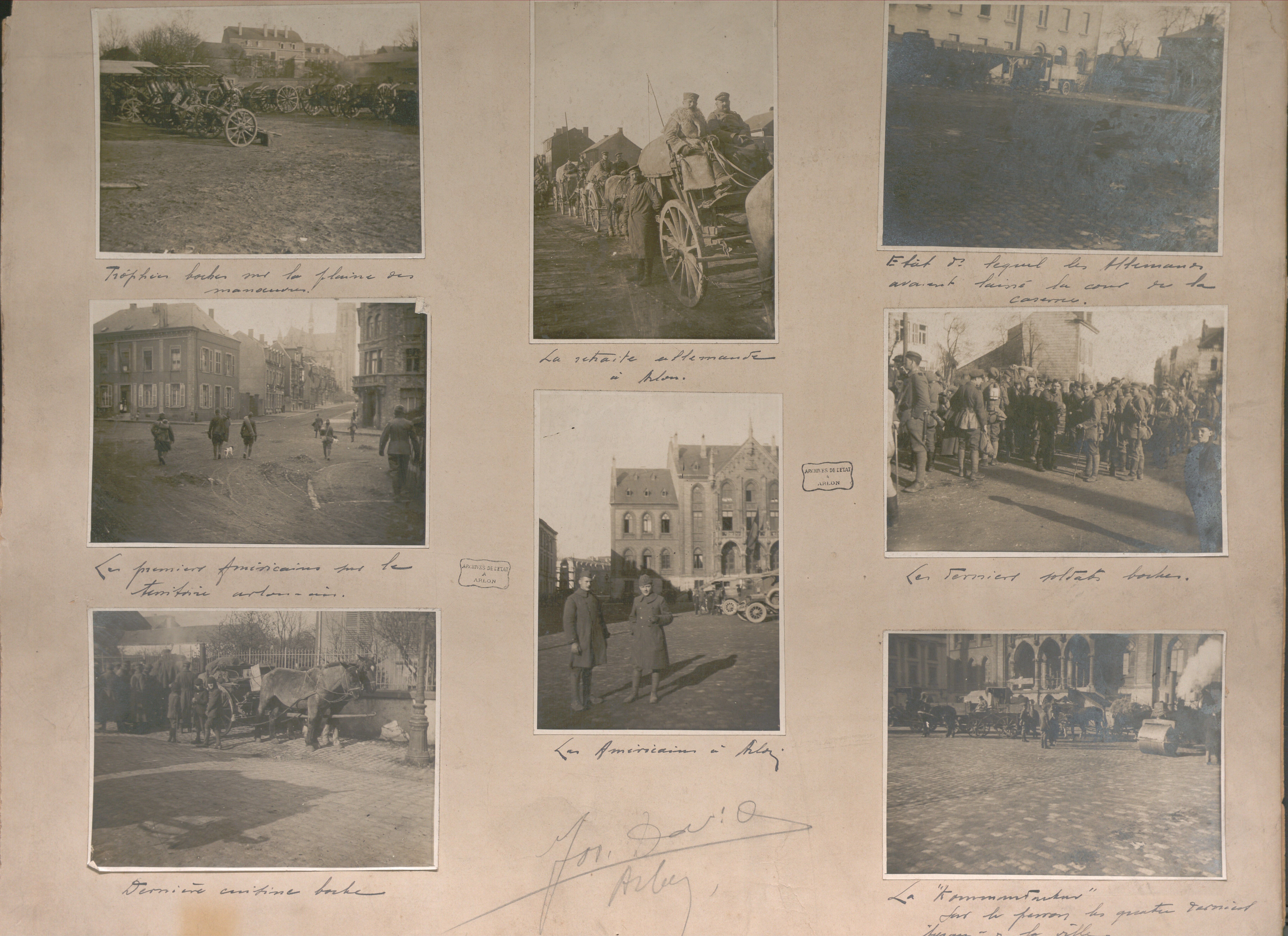 Photographs of German withdrawal and American soldiers in Arlon. State Archives in Arlon, Œuvre nationale des invalides de guerre (ONIG). Section Arlon-Virton (photos by Jos David, photographer in Arlon). (E/4/025), no. 5, © State Archives.  #CRLF#