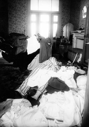 Murder of A.J. Wekselman in his home. Brussels, 29 July 1943. (Collection CegeSoma)