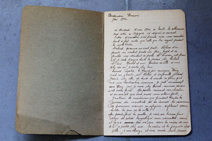 François Berdondini's personal diary, 1940. (CegeSoma AA2236)