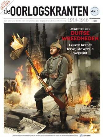 """The cover of the 3rd issue of the Oorlogskranten 1914-1918 published on 14 January 2014"""