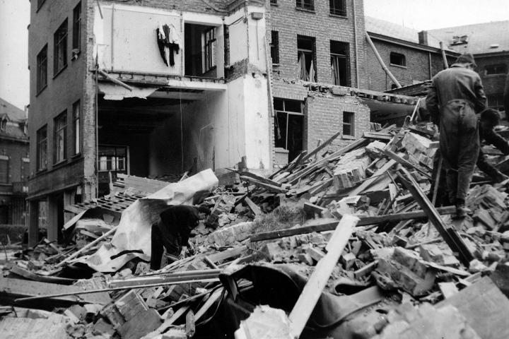 Un bombardement en avril 1944 fait un ravage à Hasselt, photo n°26962 © CegeSoma/State Archives