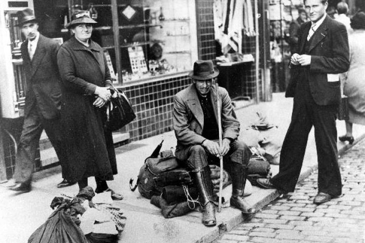 Réfugiés durant l'exode, 1940, © State Archives