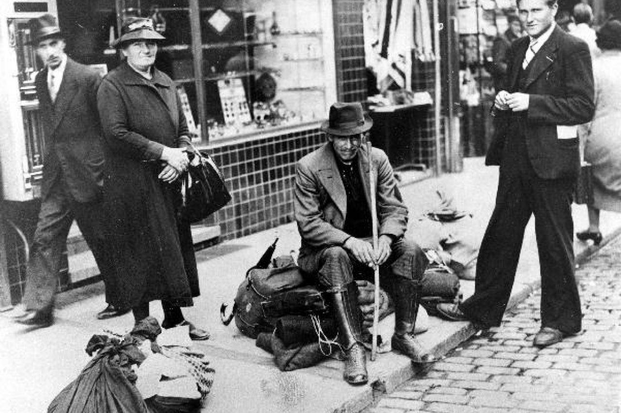 Vluchtelingen uit de exodus, 1940, © CegeSoma/Rijksarchief