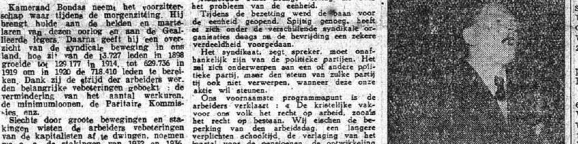 De Rode Vaan, 30/4/1945 © KBR