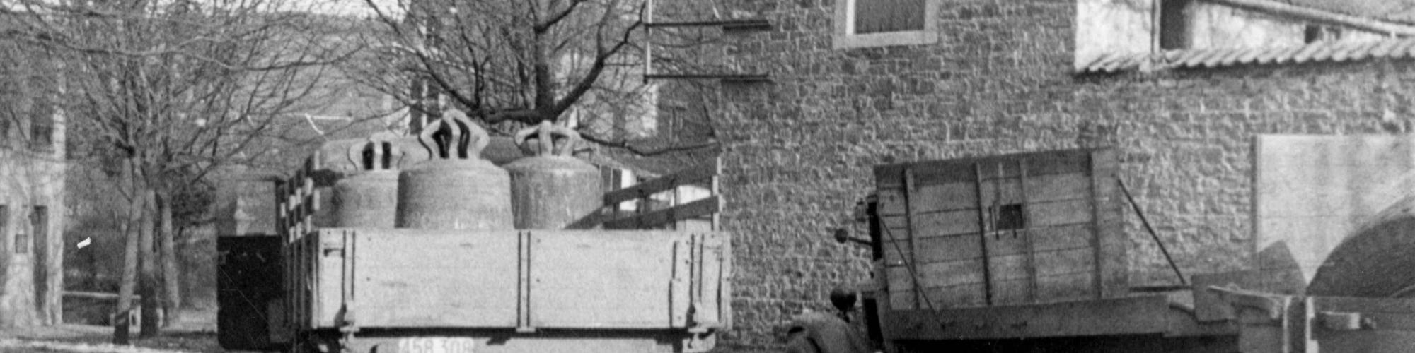 Foto nr 83226 : Terugkeer van de klokken in Jupille, 20/3/1945, Rechten voorbehouden aan CegeSoma/Rijksarchief.